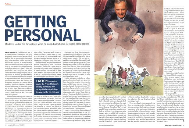 Article Preview: GETTING PERSONAL, JANUARY 2 6 2004 2004 | Maclean's