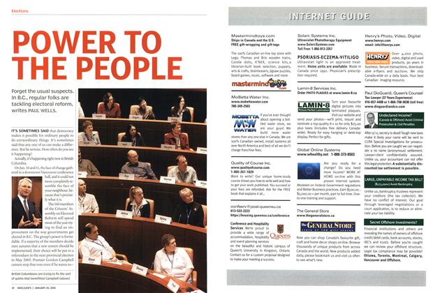 Article Preview: POWER TO THE PEOPLE, JANUARY 2 6 2004 2004 | Maclean's