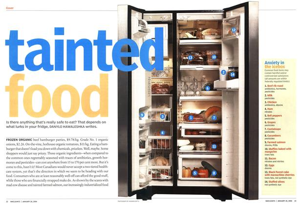 Article Preview: tainted food, JANUARY 2 6 2004 2004 | Maclean's