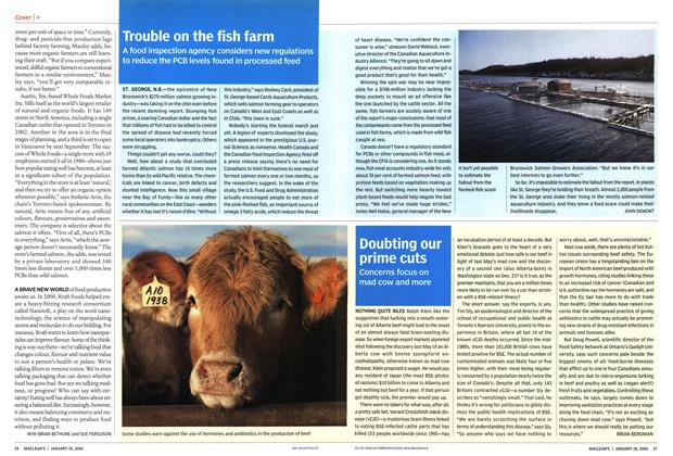 Article Preview: Trouble on the fish farm, JANUARY 2 6 2004 2004 | Maclean's