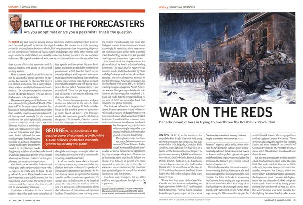 Article Preview: BATTLE OF THE FORECASTERS, JANUARY 2 6 2004 2004 | Maclean's