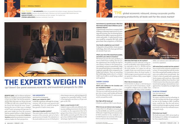 Article Preview: THE EXPERTS WEIGH IN, February 2004 | Maclean's