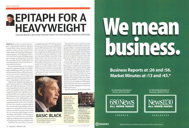 Article Preview: EPITAPH FOR A HEAVYWEIGHT, February 2004 | Maclean's