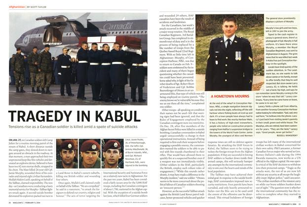 Article Preview: TRAGEDY IN KABUL, February 2004 | Maclean's