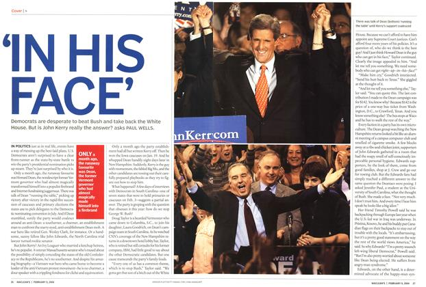 Article Preview: 'IN HIS FACE', February 2004 | Maclean's