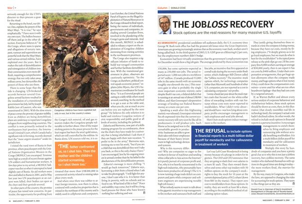 Article Preview: THE JOBLOSS RECOVERY, February 2004 | Maclean's