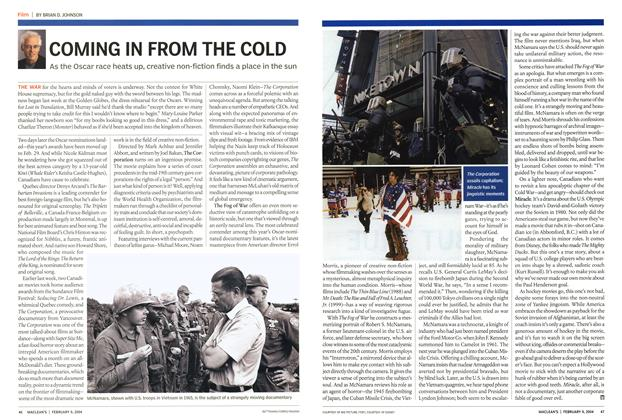 Article Preview: COMING IN FROM THE COLD, February 2004 | Maclean's