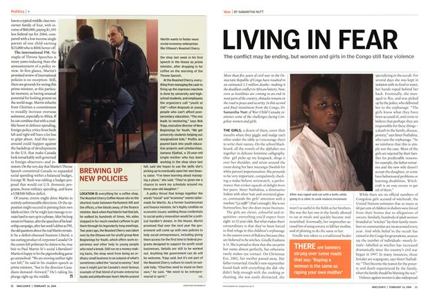 Article Preview: LIVING IN FEAR, February 2004 | Maclean's