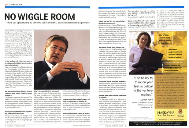Article Preview: NO WIGGLE ROOM, February 2004 | Maclean's