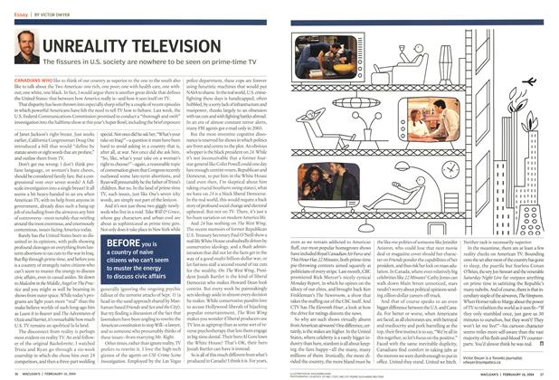 Article Preview: UNREALITY TELEVISION, February 2004 | Maclean's