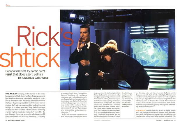 Article Preview: Rick's shtick, February 2004 | Maclean's