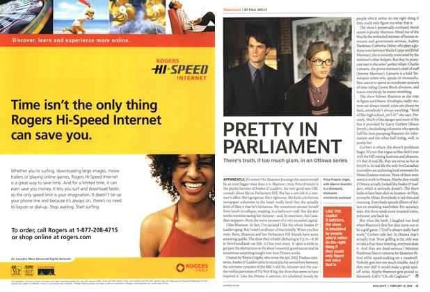 Article Preview: PRETTY IN PARLIAMENT, February 2004 | Maclean's