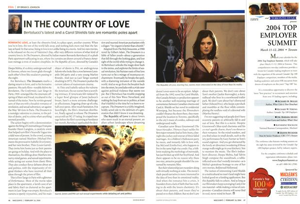 Article Preview: IN THE COUNTRY OF LOVE, February 2004 | Maclean's