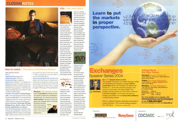 Article Preview: CDs, February 2004 | Maclean's