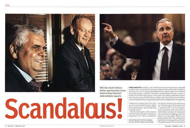 Article Preview: Scandalo us!, February 2004 | Maclean's