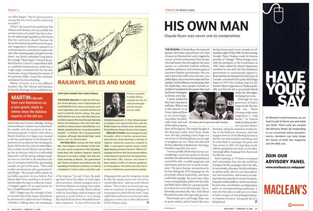 Article Preview: HIS OWN MAN, February 2004 | Maclean's