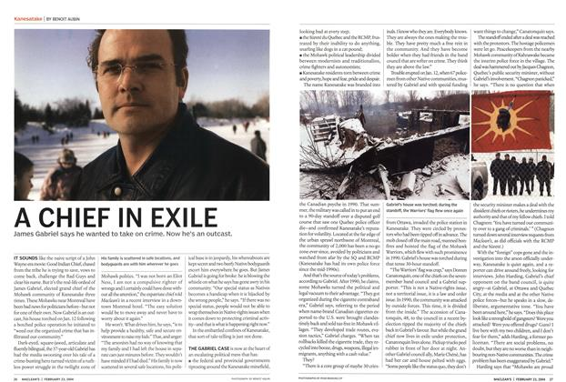 Article Preview: A CHIEF IN EXILE, February 2004 | Maclean's