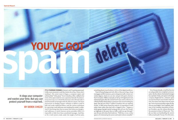 Article Preview: YOU'VE GOT SPAM, February 2004 | Maclean's