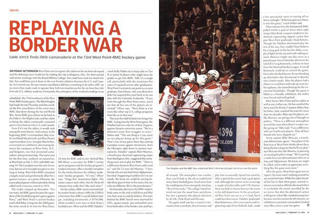Article Preview: REPLAYING A BORDER WAR, February 2004 | Maclean's