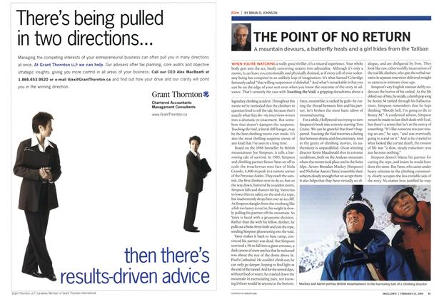 Article Preview: THE POINT OF NO RETURN, February 2004 | Maclean's