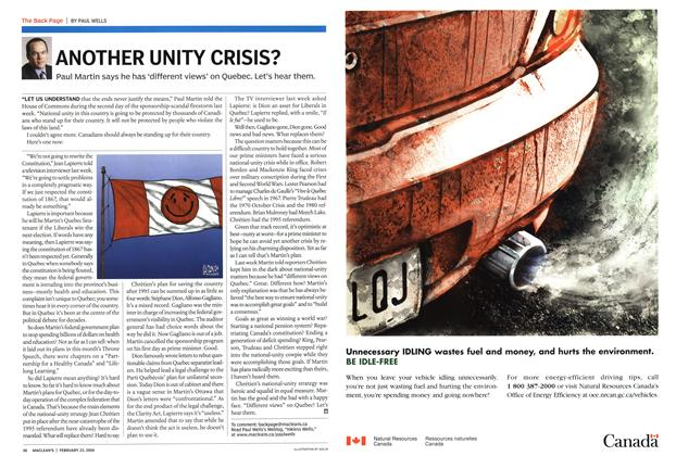 Article Preview: ANOTHER UNITY CRISIS?, February 2004 | Maclean's