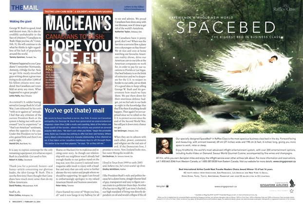 Article Preview: THE MAIL, February 2004 | Maclean's