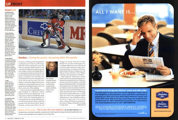 Article Preview: Hockey, February 2004 | Maclean's