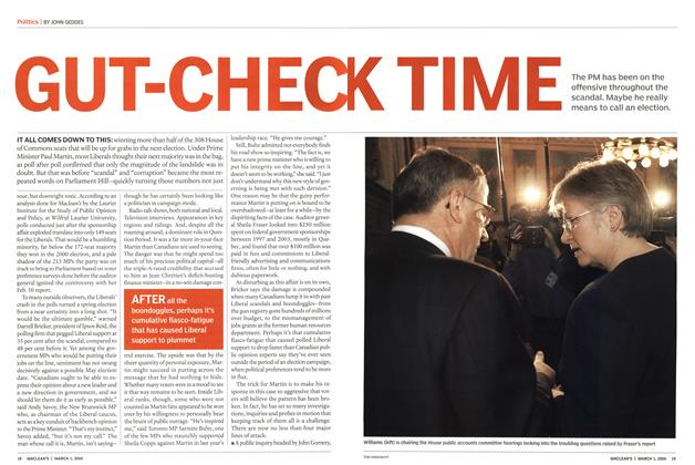 Article Preview: GUT-CHEC K TIME, March 2004 | Maclean's