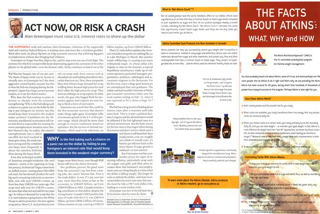 Article Preview: ACT NOW, OR RISK A CRASH, March 2004 | Maclean's