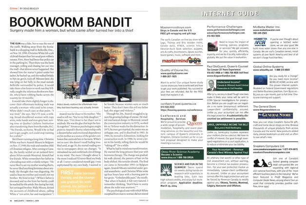 Article Preview: BOOKWORM BANDIT, March 2004 | Maclean's