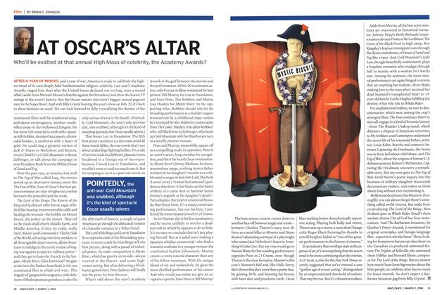 Article Preview: AT OSCAR'S ALTAR, March 2004 | Maclean's