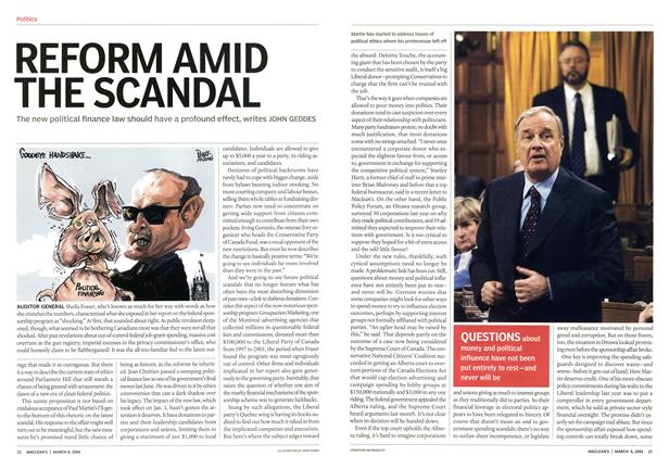 Article Preview: REFORM AMID THE SCANDAL, March 2004 | Maclean's