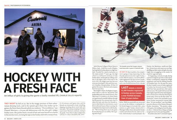 Article Preview: HOCKEY WITH A FRESH FACE, March 2004 | Maclean's