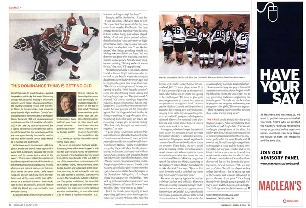 Article Preview: THIS DOMINANCE THING IS GETTING OLD, March 2004   Maclean's