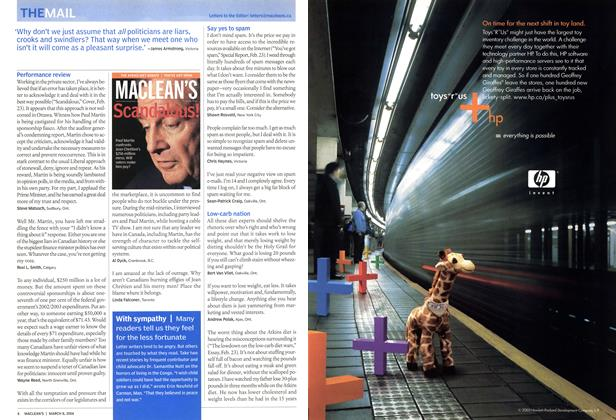 Article Preview: THE MAIL, March 2004 | Maclean's