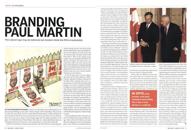 Article Preview: BRANDING PAU L MARTI N, March 2004 | Maclean's
