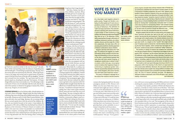 Article Preview: WIFE IS WHAT YOU MAKE IT, March 2004 | Maclean's