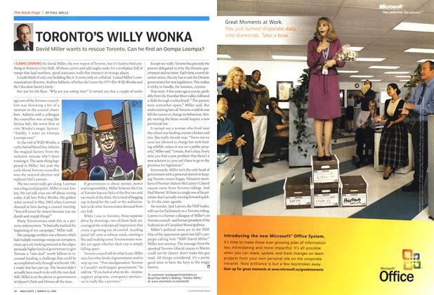 Article Preview: TORONTO'S WILLY WONKA, March 2004 | Maclean's