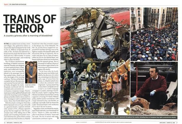 Article Preview: TRAINS OF TERROR, March 2004 | Maclean's