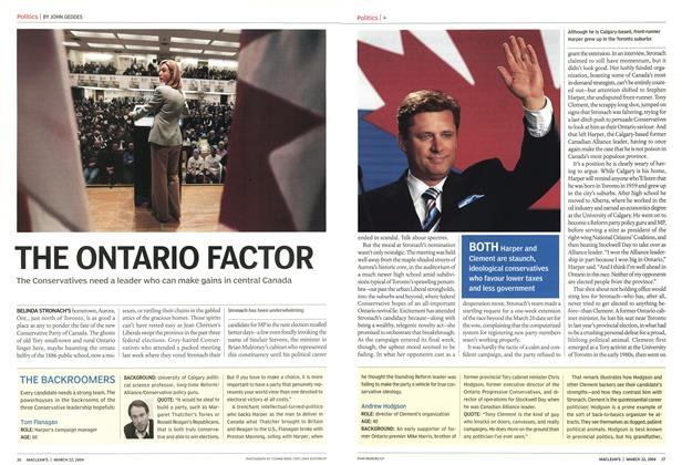 Article Preview: THE ONTARIO FACTOR, March 2004 | Maclean's