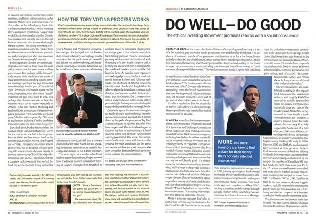 Article Preview: DO WELL-DO GOOD, March 2004 | Maclean's