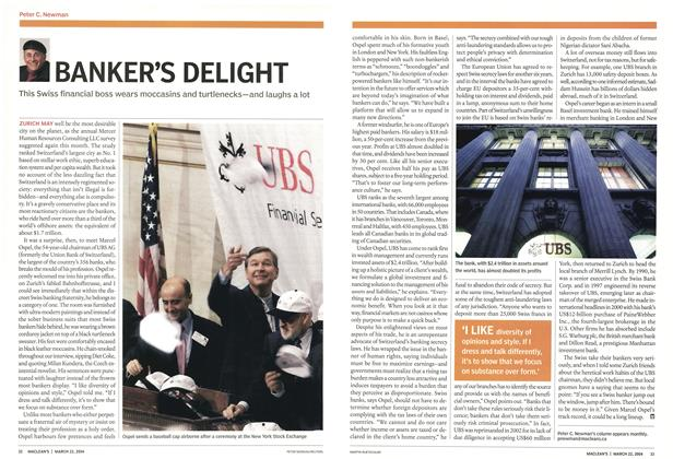 Article Preview: BANKER'S DELIGHT, March 2004 | Maclean's