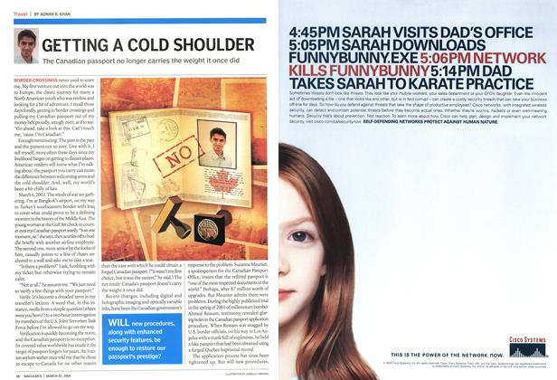 Article Preview: GETTING A COLD SHOULDER, March 2004 | Maclean's