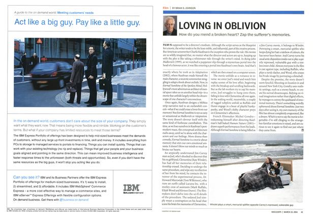 Article Preview: LOVING IN OBLIVION, March 2004 | Maclean's