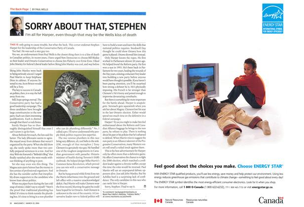 Article Preview: SORRY ABOUT THAT, STEPHEN, March 2004 | Maclean's