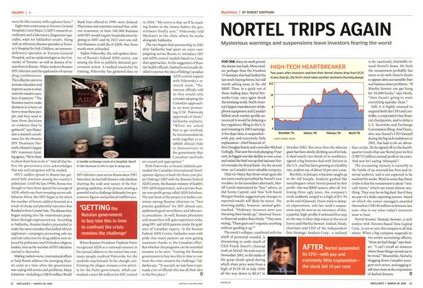 Article Preview: NORTEL TRIPS AGAIN, March 2004 | Maclean's