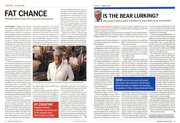 Article Preview: IS THE BEAR LURKING?, March 2004 | Maclean's