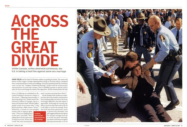 Article Preview: ACROSS THE GREAT DIVIDE, March 2004 | Maclean's
