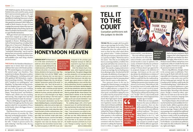 Article Preview: TELL IT TO THE COURT, March 2004 | Maclean's