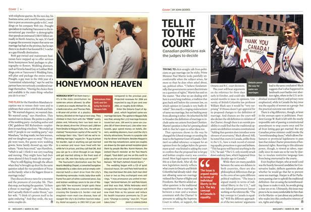 Article Preview: HONEYMOON HEAVEN, March 2004 | Maclean's